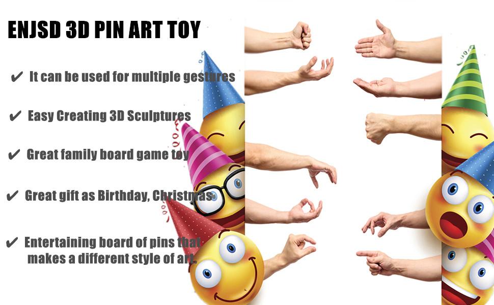 d2801419 aa5f 47f4 92c6 3467fa20b6e0.  CR0,0,970,600 PT0 SX970 V1    - ENJSD 3D Pin Art Toy, Unique Plastic Pin Art Board for Kids,Inspire Imagination & Challenge Sense, Innovative Boundless Creativity for Children (Multicolor)