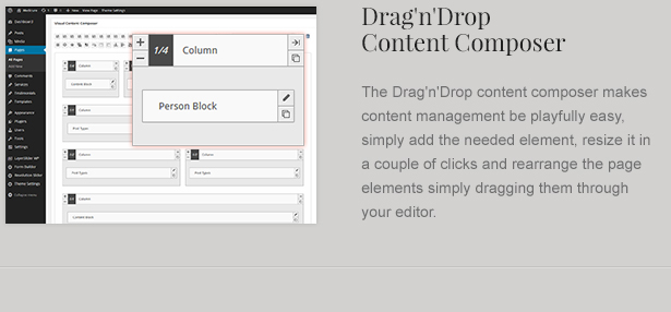 drag and drop interface - LawBusiness - Attorney & Lawyer WordPress Theme