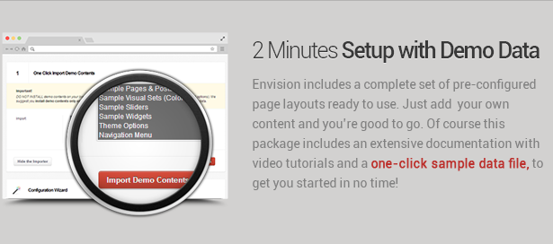 easy setup - Envision - Responsive Retina Multi-Purpose Theme