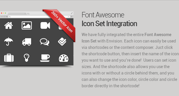 font awesome - Envision - Responsive Retina Multi-Purpose Theme