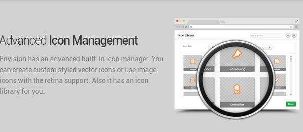 icon management - Envision - Responsive Retina Multi-Purpose Theme