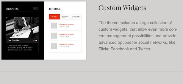law office widgets - LawBusiness - Attorney & Lawyer WordPress Theme
