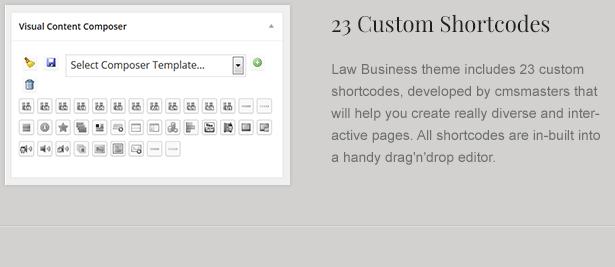 law theme shortcodes - LawBusiness - Attorney & Lawyer WordPress Theme