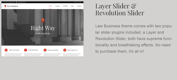 law theme sliders - LawBusiness - Attorney & Lawyer WordPress Theme