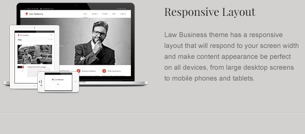 lawyer theme responsive - LawBusiness - Attorney & Lawyer WordPress Theme