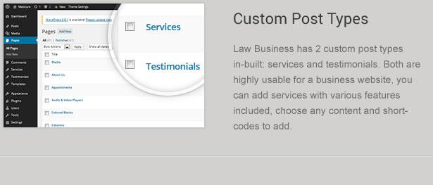 legal post types - LawBusiness - Attorney & Lawyer WordPress Theme