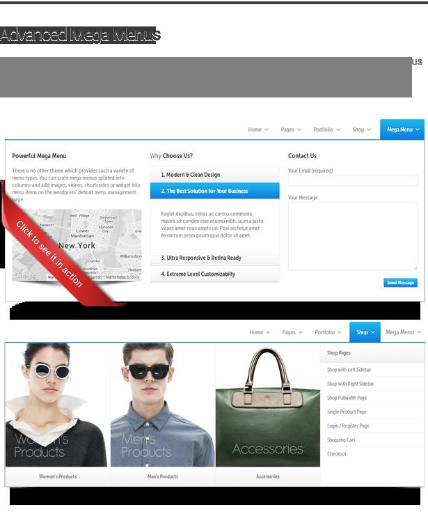 megamenu - Envision - Responsive Retina Multi-Purpose Theme