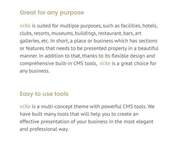 nixe intro - Nixe | Hotel, Travel and Holiday WordPress Theme