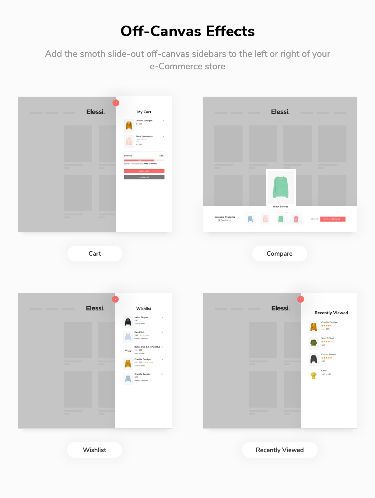 off canvas - Elessi - WooCommerce AJAX WordPress Theme - RTL support