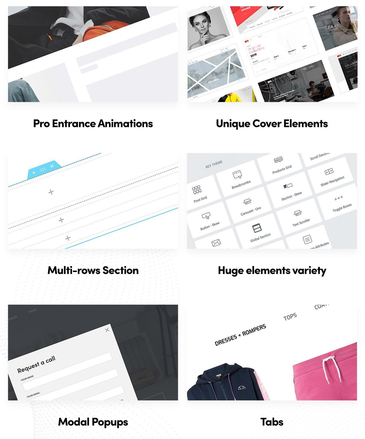 p elementor 3 - Rey - Fashion & Clothing, Furniture