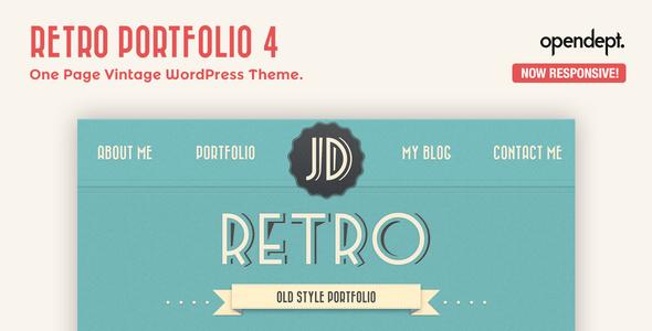 preview retro 4.  large preview - Retro Portfolio - One Page Vintage WordPress Theme