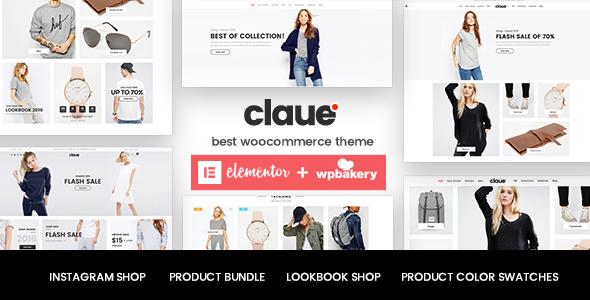preview1.  large preview - Claue - Clean, Minimal Elementor WooCommerce Theme