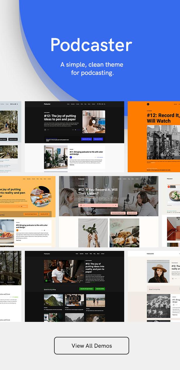 sales page 2 demos ver 5 - Podcaster - Multimedia WordPress Theme