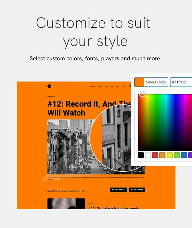 sales page 9 customize 2 - Podcaster - Multimedia WordPress Theme