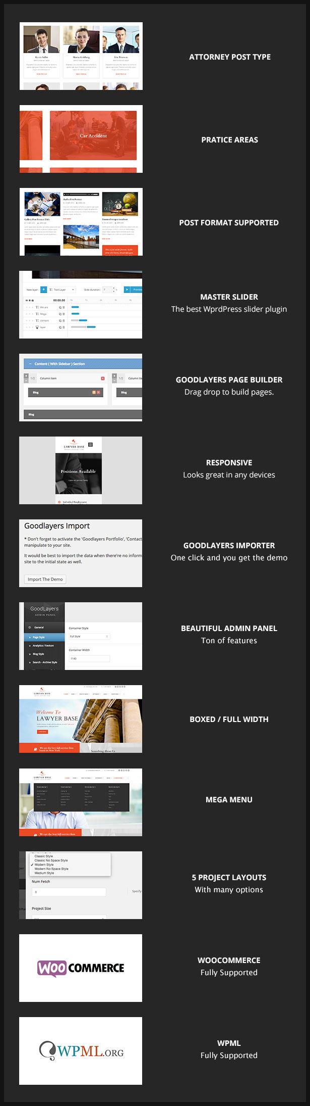 screen 1 - Lawyer Base - Attorney WordPress