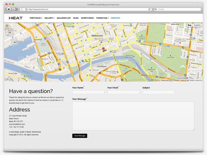 screenshot whitesmoke contact heat - Heat - Responsive Photography WordPress Theme