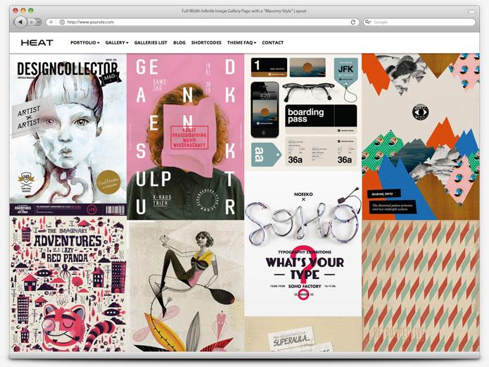 screenshot whitesmoke gallery heat - Heat - Responsive Photography WordPress Theme