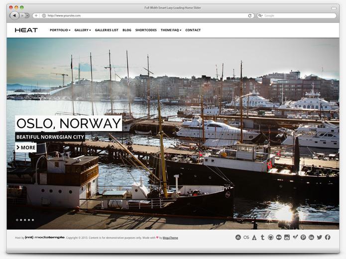 screenshot whitesmoke home slider heat - Heat - Responsive Photography WordPress Theme