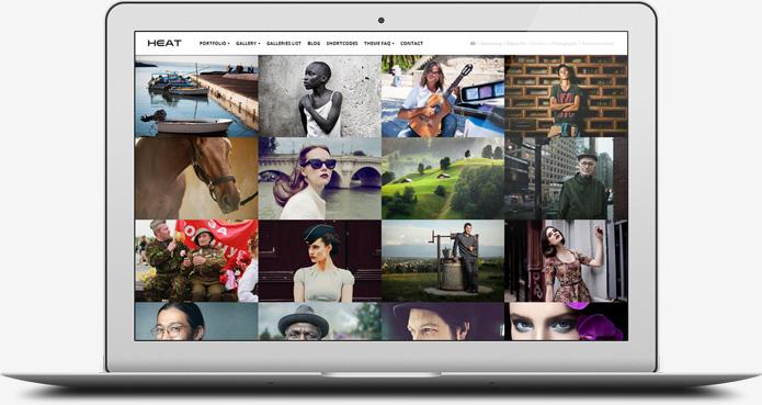 screenshot whitesmoke portfolio heat - Heat - Responsive Photography WordPress Theme