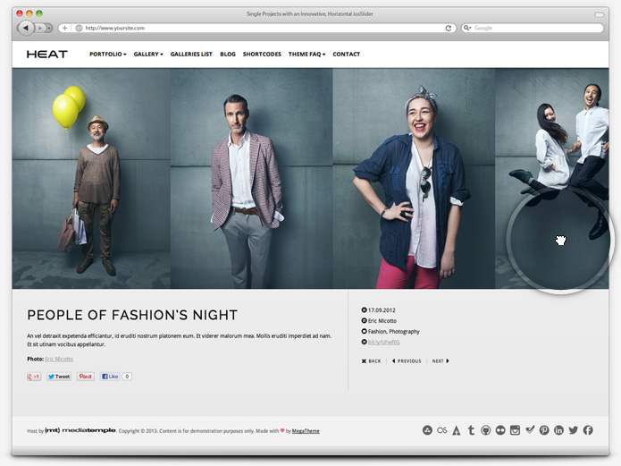 screenshot whitesmoke single project heat - Heat - Responsive Photography WordPress Theme