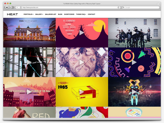 screenshot whitesmoke video heat - Heat - Responsive Photography WordPress Theme