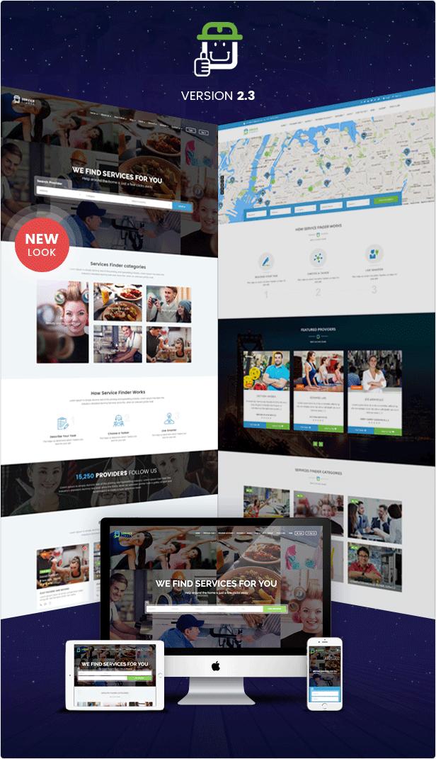 service finder preview v101 - Service Finder - Provider and Business Listing WordPress Theme