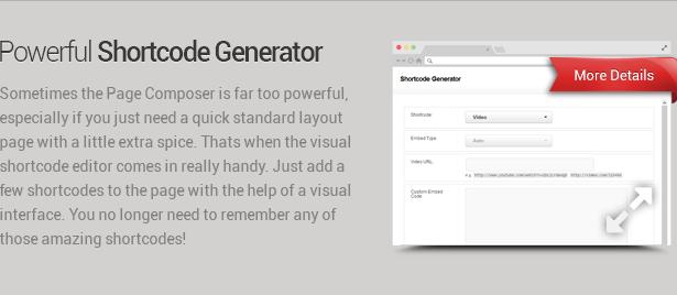 shortcode generator - Envision - Responsive Retina Multi-Purpose Theme