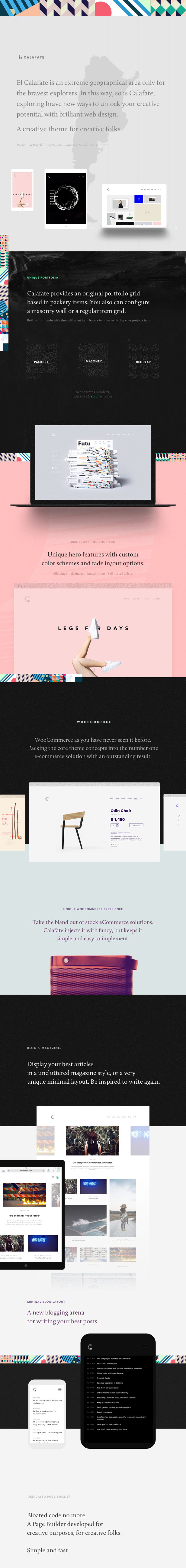 themeforest intro 2 - Calafate - Portfolio & WooCommerce Creative WordPress Theme