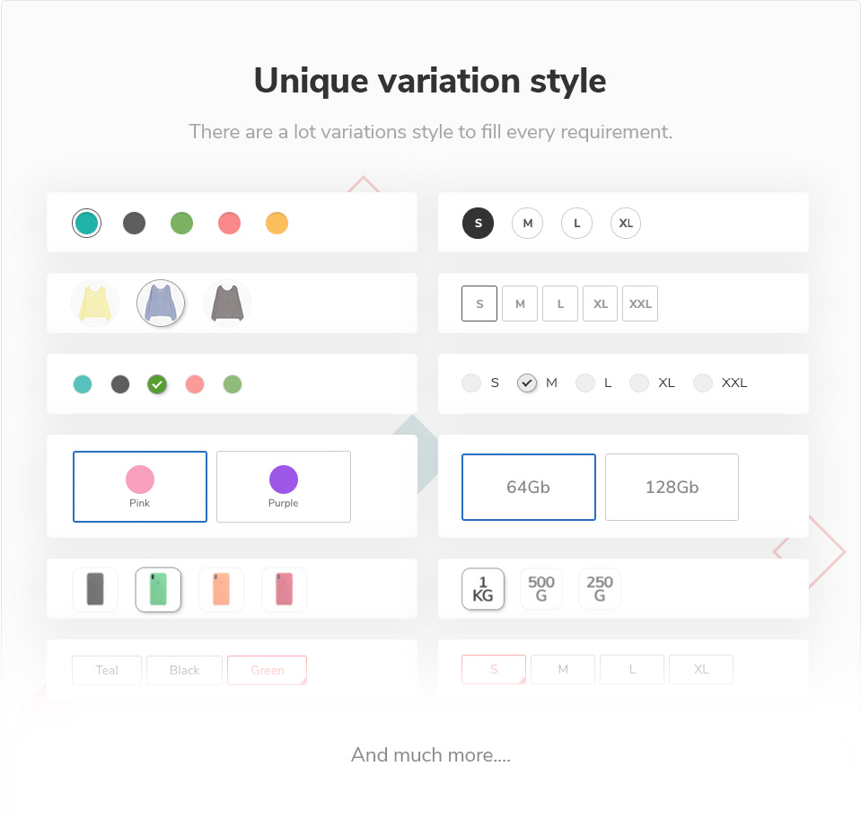 variation style - Elessi - WooCommerce AJAX WordPress Theme - RTL support