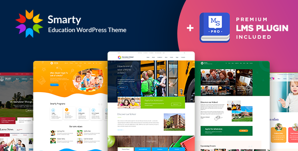 00 preview smarty lms.  large preview - Smarty - School Kindergarten WordPress theme