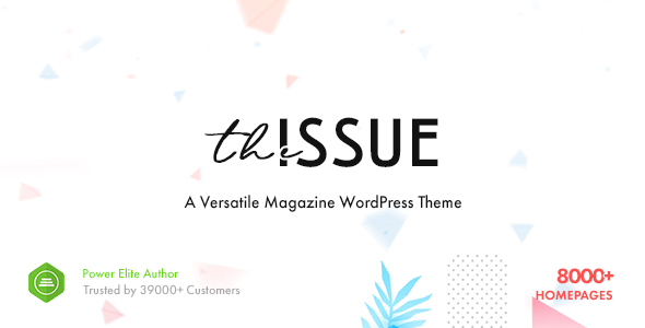 01 Preview.  large preview - The Issue - Versatile Magazine WordPress Theme