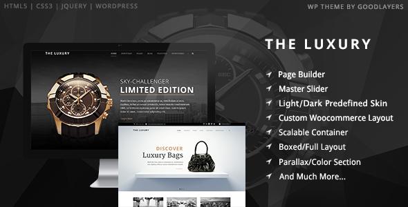 01 intro.  large preview - The Luxury - Dark / Light Responsive WordPress