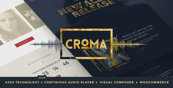 01 preview 590x300.  large preview - Croma - Music WordPress Theme with Ajax and Continuous Playback