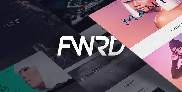 01 screenshot.  large preview - FWRD - Music Band & Musician WordPress Theme