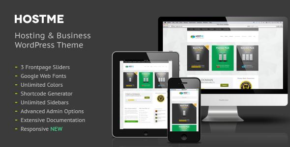 01 screenshot.  large preview - Hostme Premium Hosting & Business Wordpress Theme