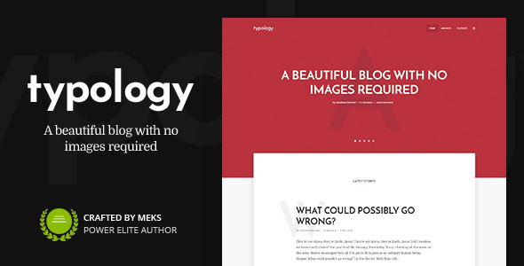 01 typology.  large preview - Typology - Minimalist WordPress Blog & Text Based Theme