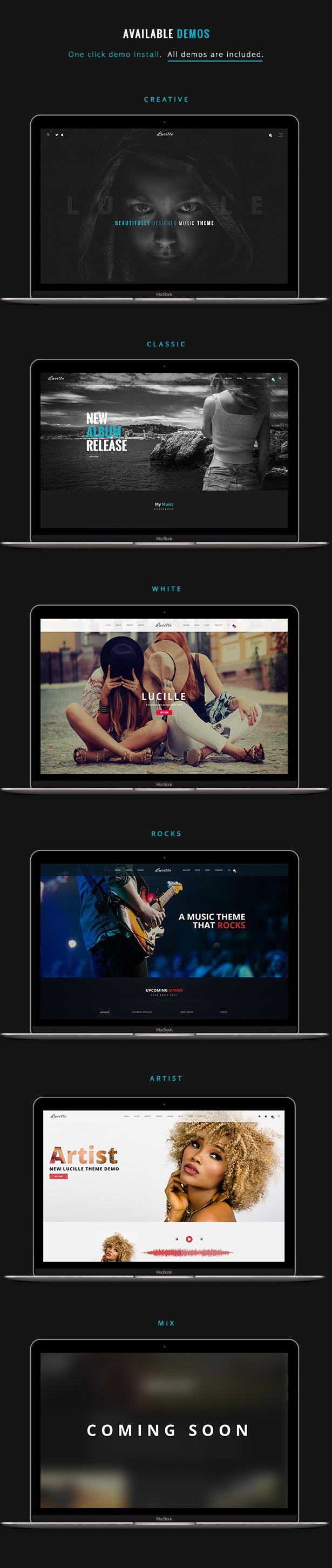0 3 - Lucille - Music WordPress Theme
