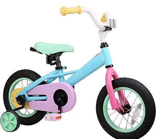 "1620205037 415XiP3oVtL. AC  500x445 - JOYSTAR 12"" 14"" 16"" Kids Bike for 2-7 Years Girls 33-53 inch Tall, Girls Bicycle with Training Wheels & Coaster Brake, 85% Assembled, Macarons"