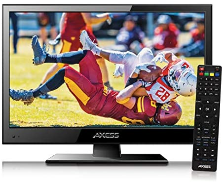 1620681056 51VVS9TrUTL. AC  - Axess TVD1805-15 LED HDTV Includes AC/DC TV DVD Player HDMI/SD/USB Inputs, Wall Mountable, Stereo Speaker (15.6 Inch)
