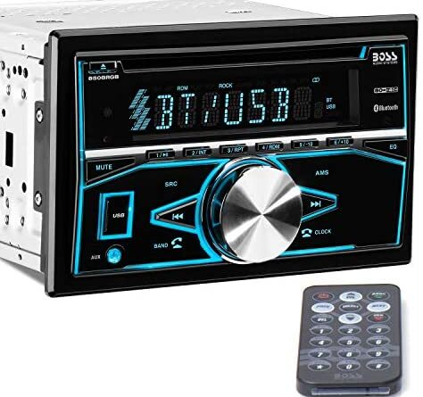 1621200670 51yYsiZIh6L. AC  474x445 - BOSS Audio Systems 850BRGB Car Stereo - Double Din, Bluetooth Audio and Calling, MP3 Player, CD, USB Port, AUX Input, AM/FM Radio Receiver, Multi Color Illumination