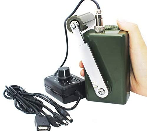 1621416999 41FqiXwrh8L. AC  499x445 - Hand Crank Generator High Power Charger for Outdoor Mobile Phone Computer Charging 30W / 0-28V with USB Plug (Green Generator + DC Regulator)