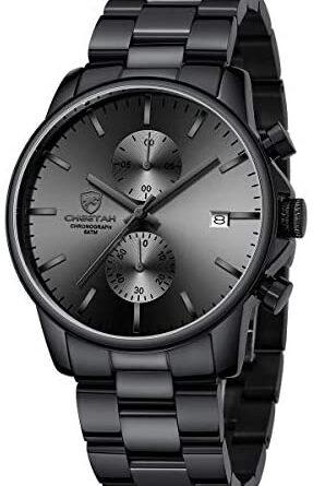 1621546810 41tLZq2dE1L. AC  287x445 - GOLDEN HOUR Fashion Business Mens Watches with Stainless Steel Waterproof Chronograph Quartz Watch for Men, Auto Date
