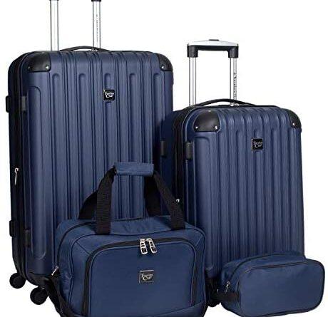1621676749 41TcP58PlmL. AC  460x445 - Travelers Club Midtown Hardside 4-Piece Luggage Travel Set, Navy Blue
