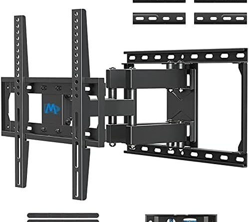 """1621936284 417CtRQTCMS. AC  499x445 - Mounting Dream TV Mount Full Motion TV Wall Mounts for 26-55 Inch Flat Screen TV, Wall Mount TV Bracket with Dual Arms, Max VESA 400x400mm and 99 LBS, Fits 16"""", 18"""", 24"""" Studs MD2380-24K TV Mounts"""