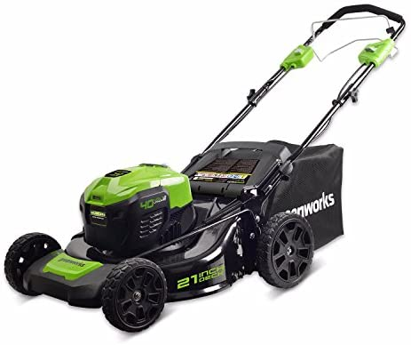 1622022794 41U MwSQecL. AC  - Greenworks 40V 21 inch Self-Propelled Cordless Lawn Mower, Battery Not Included MO40L02
