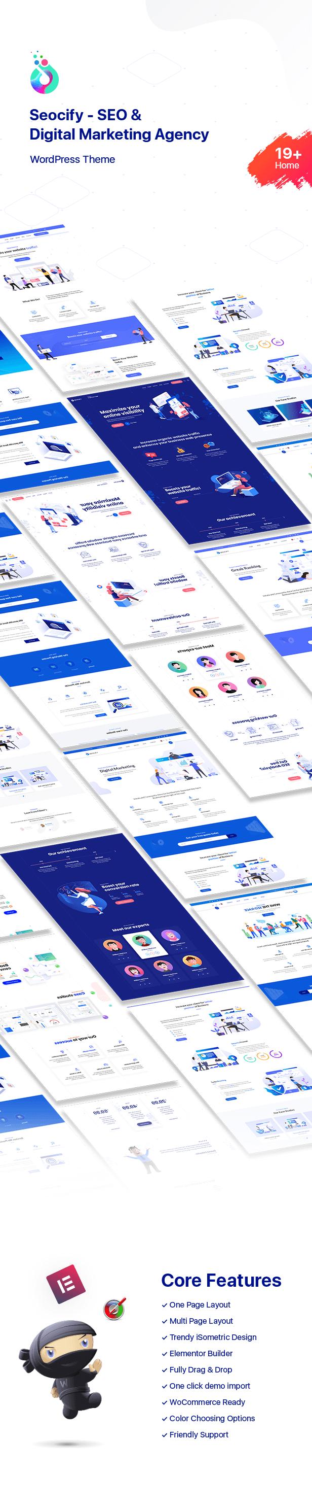 1Intro - SEO Digital Marketing Agency WordPress Theme