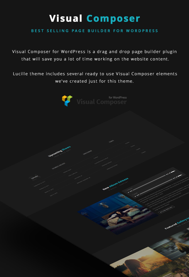 2 - Lucille - Music WordPress Theme