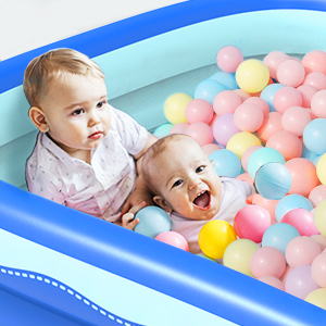 266932d0 7678 470f 94bd dc5971359a14.  CR0,0,300,300 PT0 SX300 V1    - Sable Inflatable Pool, 118 x 72.5 x 20in Rectangular Swimming Pool for Toddlers, Kids, Family, Above Ground, Backyard, Outdoor, Blue (SA-HF071)