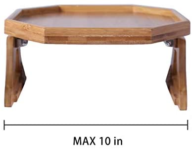 31bjjMpnbwL. AC  - Xchouxer Side Tables Natural Bamboo Sofa Armrest Clip-On Tray, Ideal for Remote/Drinks/Phone