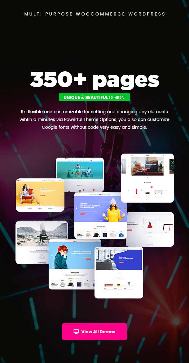 350pages - Puca - Optimized Mobile WooCommerce Theme